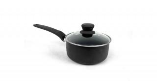 Diamond Lidded Sauce Pan 18cm Black