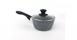 Granito Lidded Sauce Pan 16cm Grey