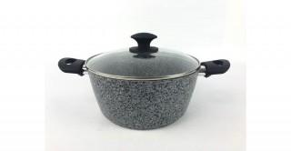 Granito Lidded Casserole 28cm Grey