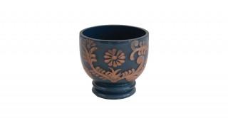 Blue Glass Votive Candle Holder