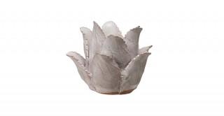 Round Handmade Terra-cotta Flower Tealight Holder