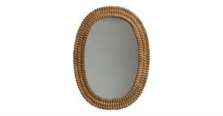Embossed Metal Framed Wall Mirror