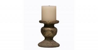 """Terracotta Pillar Candleholder (Holds 4"""" Pillar Candle)"""
