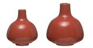 Stoneware Vases with Narrow Tops (Set of 2 Sizes)