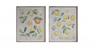 Wood Framed Canvas Wall Decor - Random 1 pc