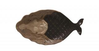 Stoneware Mermaid Platter