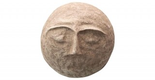 Round Paper Mache Face Wall Decor (Each one will vary)