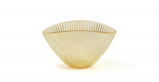 Abby Serving Bowl Gold Ribbed 17 cm