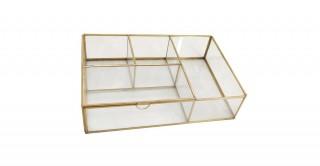 Real Brass-Glass Multifunctional Organizer