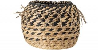 Water Hyacinth Basket Black