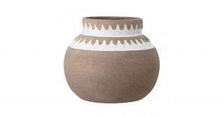 Terracotta Deco Vase Brown