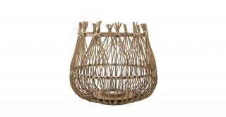 Bamboo Lantern with Glass,Nature