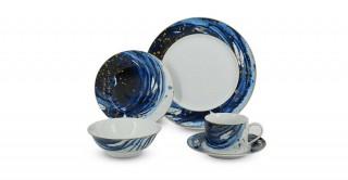 Floret 30Pcs Dinner Set Blue