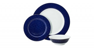 Flow 18Pcs Dinner Set Blue