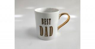 Etna Mug Best Dad Gold