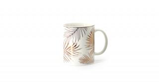 Fleur Mug 14Oz Gold