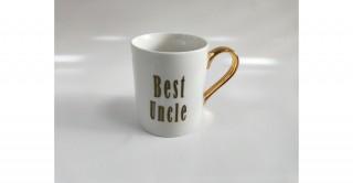 Etna Best Uncle Mug White/Gold