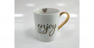 Etna Enjoy The Little Things Mug White/G
