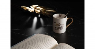 Etna Time To Get Stuff Done! Mug White/G