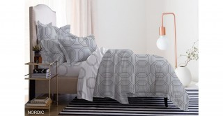 Nordic Printed Duvet Cover Set 260 X 240 Cm