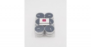 Diya Tealight Candle Grey Set of 12