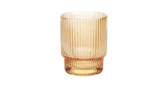Avery Ribbed 6Pcs Tumbler Amber
