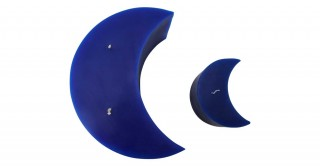 Diya Moon Candle Blue Set of 2