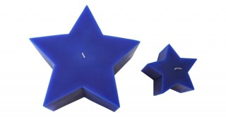 Diya Star Candle Blue Set of 2
