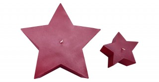 Diya Star Candle Burgundy Set of 2