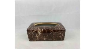 Mia Tissue Box Brown 25 cm