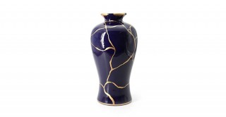 Michi Vase Dark Blue 19 cm