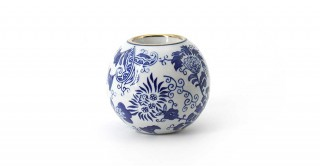 Midori Candle Holder Blue 10.5 cm
