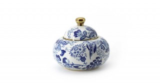 Midori Lidded Jar Blue 14.5 cm