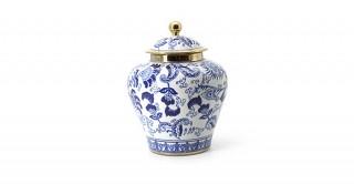 Midori Lidded Jar Blue 19.5 cm