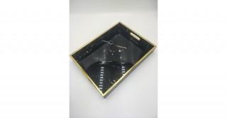 Carrie Decorative Tray Black 40 cm