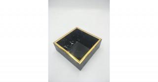 Carrie Decorative Tray Black 15 cm