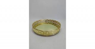 Elite Decorative Tray Gold 25 cm