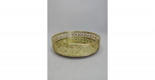 Ella Decorative Tray Gold 25 cm