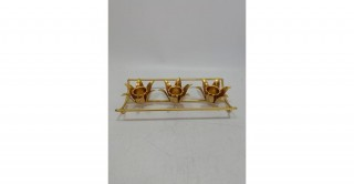 Ceres 3 Pcs Candle Holders Gold 26 cm