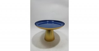 Charvi Footed Tray Blue 29 cm