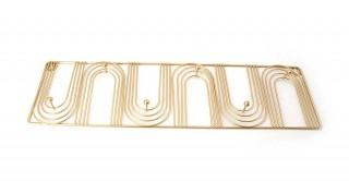 Cipher Coat Rack Gold 50 cm