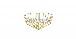 Cocoon Heart Basket Gold 32 cm