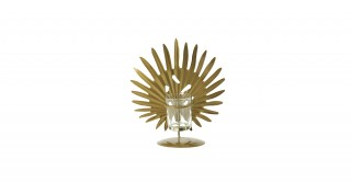 Cosmos Candle Holders Gold 19.5 cm