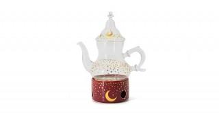 Moon  Tea Set Burgundy 3Pcs