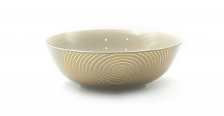 Rosel Bowl Shinny Grey