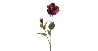 Hibiscus Spray Burgundy 78 cm