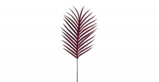 Palm Leaf Velvet Burgundy 93 cm
