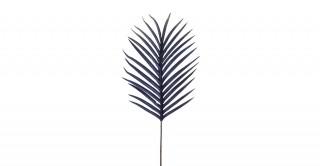 Palm Leaf Velvet Blue 93 cm