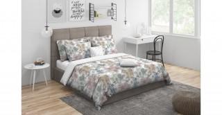 Foliage Comforter Set 5Pcs,Beige King Size