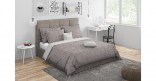 Splendour Comforter Set 5Pcs, Mauve King Size